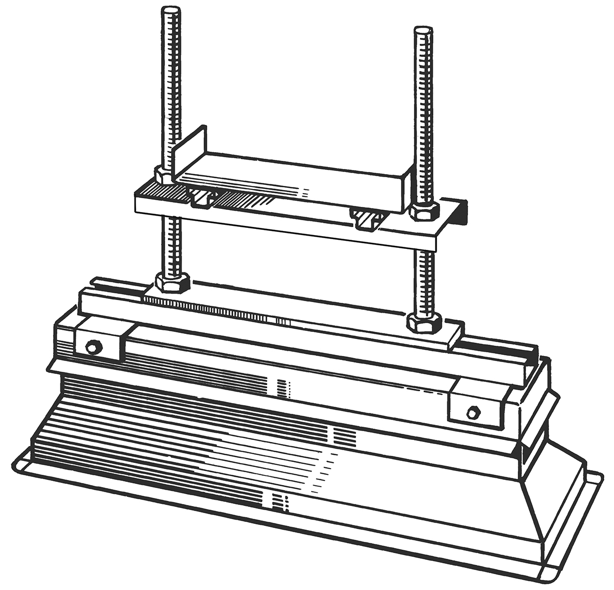 Air Conditioning Ducts Support Details : Standard rectangular duct supports rps
