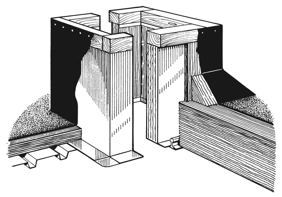 Conventional Roof Curb for lightweight fill